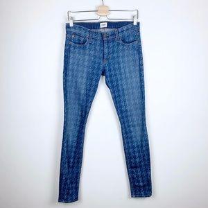 Hudson Houndstooth Skinny Jeans